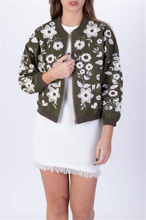 Jacket Flowers Import shine brand floral bomber jacket from tel aviv shoptiques