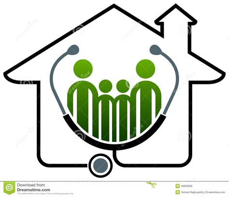 Home Design App With Roof family health home stock vector image 49990699