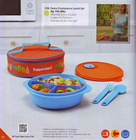 Baru Tupperware Fancy Crystalwave Lunch Set jual tupperware fancy crystalwave lunch set mos corner
