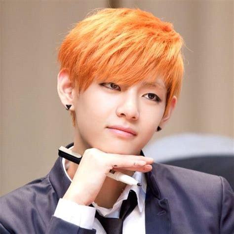 kim taehyung orange hair taehyung orange hair appreciation k pop amino
