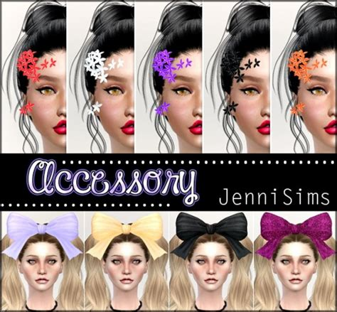 jenni sims accessory bow headband sims 4 downloads sims 4 headwear downloads 187 sims 4 updates