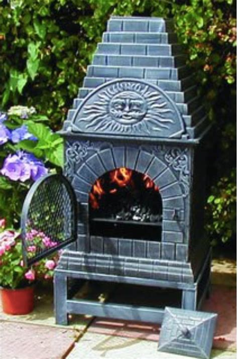 blue rooster cast iron casita chiminea review