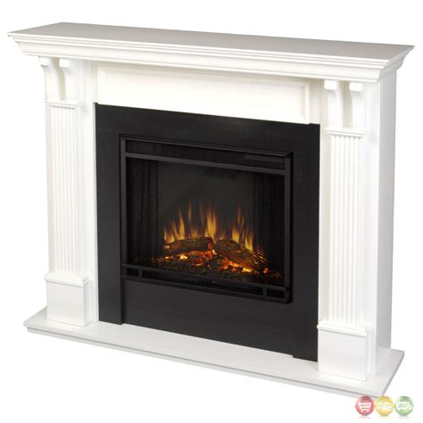 Indoor Fireplace Heater by Indoor Electric Led Heater Fireplace In White