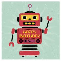 robot birthday card dotcomgiftshop
