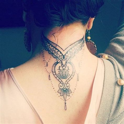 neck tattoo designs female best 25 back neck tattoos ideas on neck