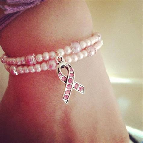 breast cancer awareness bracelet pretty in pink breast