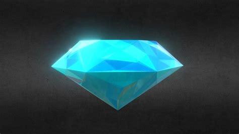 3d model ready light blue sapphire precious gem vr ar low poly obj 3ds fbx stl