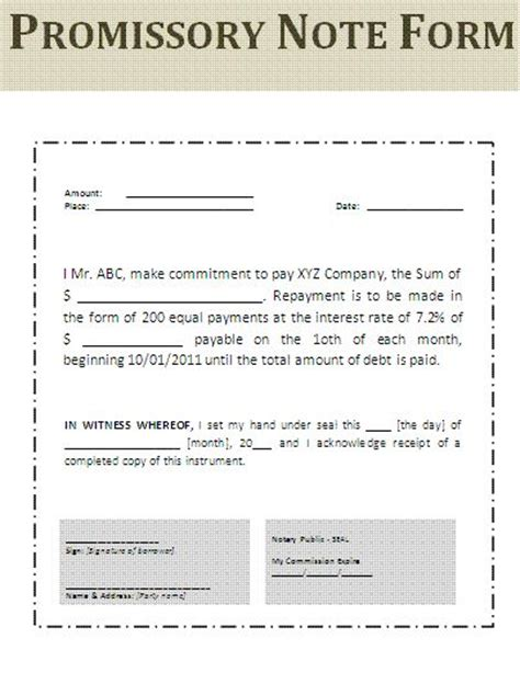 Employment Promise Letter Sle Printable Sle Simple Promissory Note Form Real Estate Forms Word Simple Note