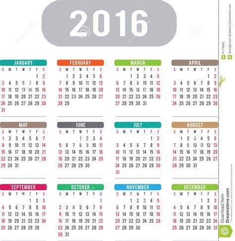 english calendar 2016 design stock vector image 61777684 english calendar 2016 design stock illustration image