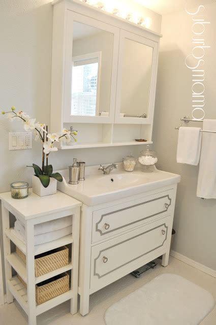 ikea master bathroom happily decor after ikea bathroom makeover