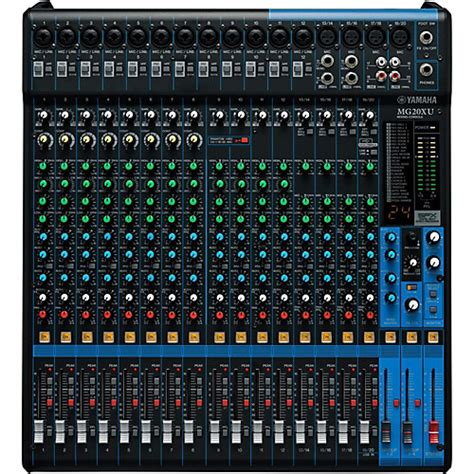 Mixer Yamaha 12 Channel Bekas yamaha mg20xu 20 channel mixer with effects musician s friend