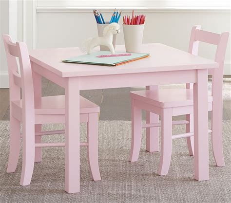 pink table and chairs my play table chairs petal pink pottery barn