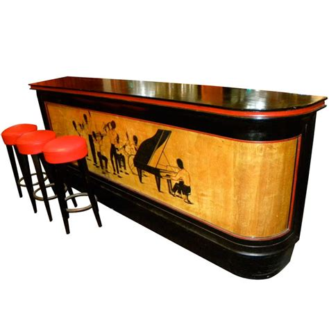 Bar Items Historically Significant Deco Bar With Stylized Black