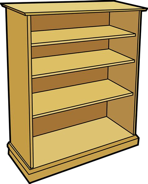 free vector graphic bookshelf shelves bookcase free