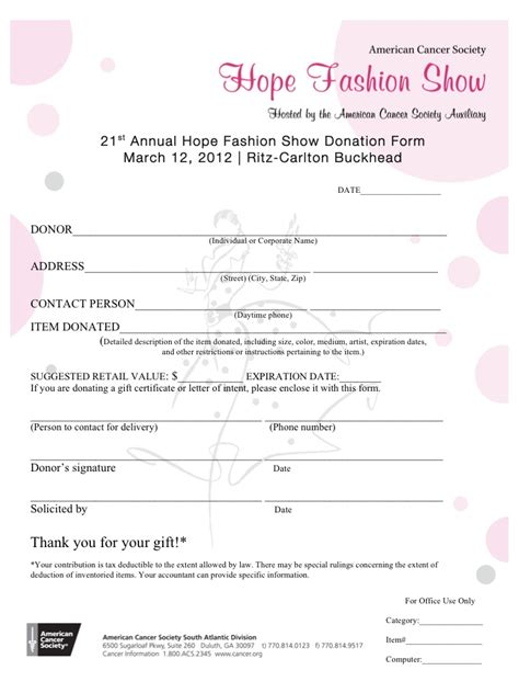 silent auction donation form template pin silent auction donation form template image search