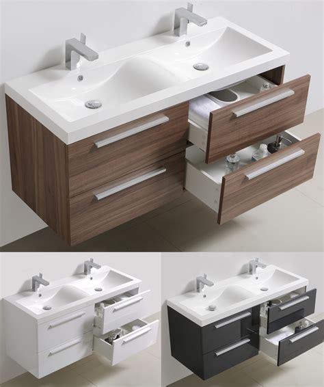 nauhuri doppelwaschbecken mit unterschrank und