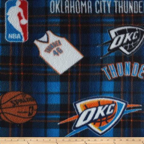 Oklahoma Upholstery by Nba Fleece Oklahoma City Thunder Multi Discount Designer