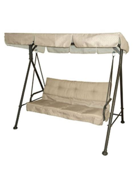 courtyard creations swing capri collection oversized 2 1 2 person cushion swing