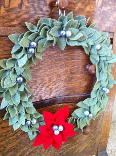 felt wreath felt wreath felt
