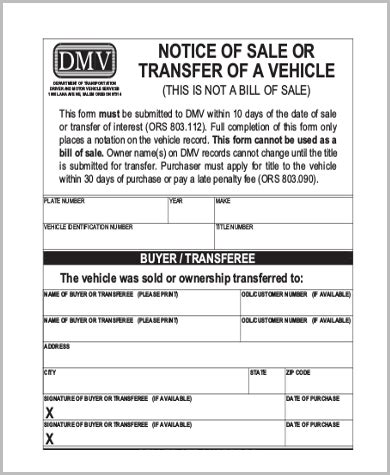 dmv release of liability form 5 free documents in word pdf