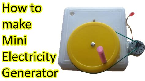 how to make electricity generator stem fair projects
