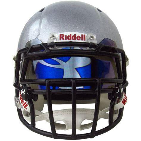 colored football visors armour hologram football visor blue mirror