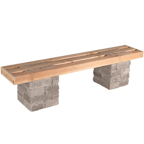 concrete benches home depot pavestone rumblestone 72 in x 17 5 in concrete garden bench kit in greystone