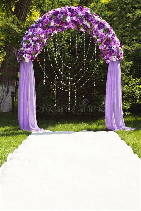 Wedding Arch Photos by Wedding Arch Stock Photo Image Of Lilac White Beautiful
