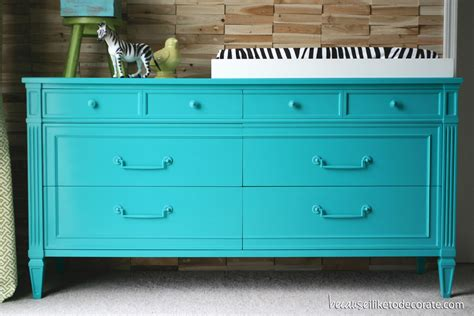 colorful dressers caspian blue because i like to decorate