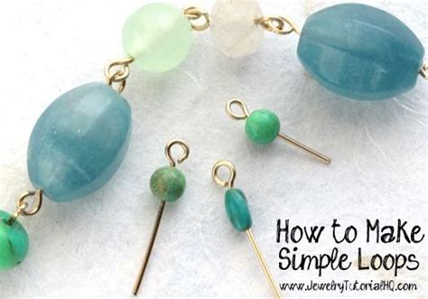 how to make bead jewelry for beginners how to make simple wire loops tutorials great