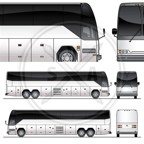 tour bus graphics template stock vector art