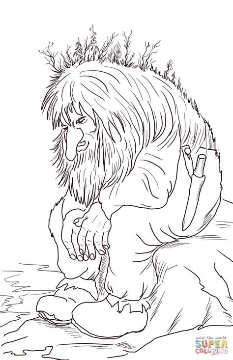 norway christmas coloring page norwegian troll coloring page free printable coloring pages
