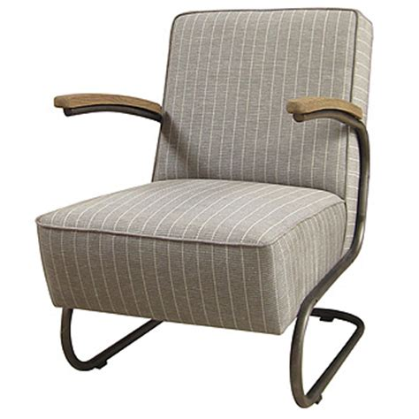 Gray Striped Chair 1940 S Style Grey And Ivory Striped Chair Mecox
