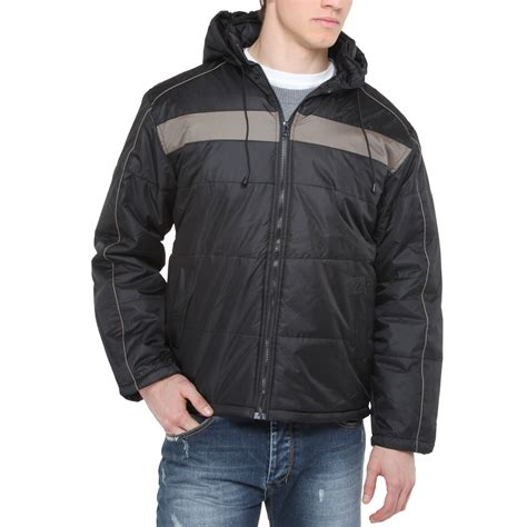 Mens Quilted Parka by Mens Hooded Quilted Padded Waterproof Thick Warm Jacket