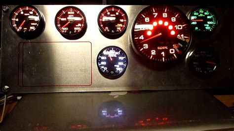 all boat gauges not working full dash of proparts spek gauges youtube