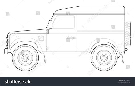 land rover defender vector land rover defender 90 hard top stock vector 778875