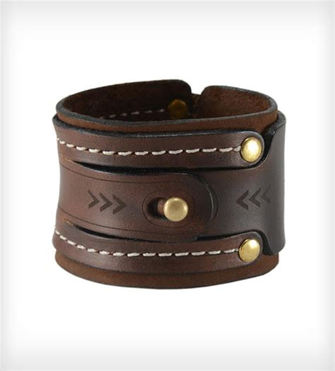 leather cuffs for jewelry dual lock leather cuff bracelet s accessories the