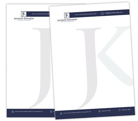 Insurance Letterhead serious professional letterhead design for aaron wooster