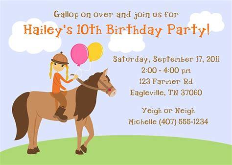 free printable horse riding party invitations birthday horseback riding birthday party invitations horse pony