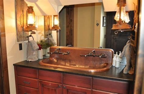 high back bathroom sink copper trough sink high back built to order mountain