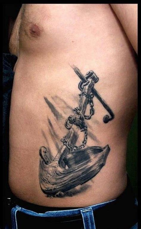 cool side tattoos for men top 25 ideas about anchor on anchor