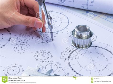 design engineer job from home mechanical design engineer in drawing stock photo image