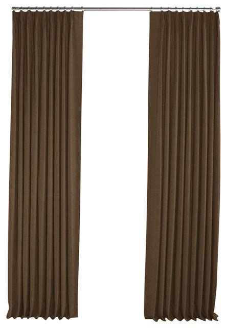 Brown Linen Curtains Chocolate Brown Linen Pleated Curtain Single Panel Contemporary Curtains By Loom Decor