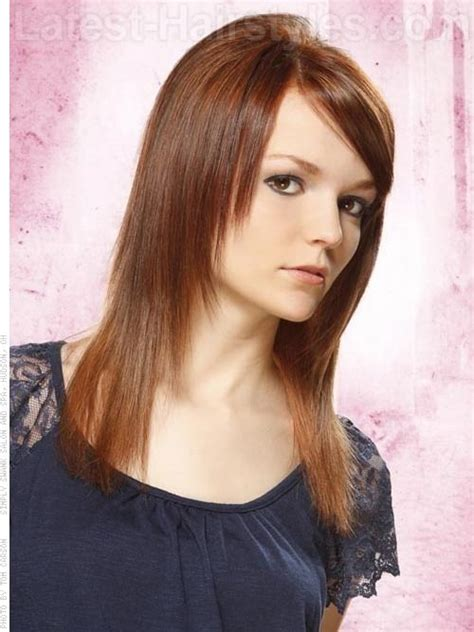 bang area of hair thinning tapered straight hair only layered in front with side