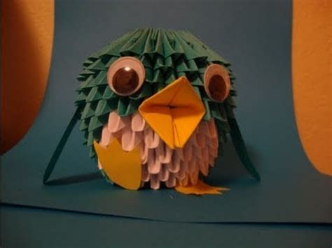 How To Make A 3d Penguin Out Of Paper - how to make a 3d origami penguin