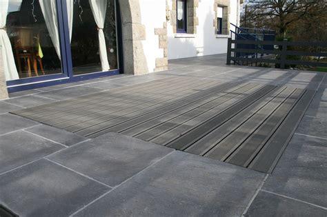 terrasse pvc dalle pvc pour terrasse maison design wiblia
