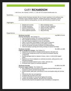 free sample resumes for warehouse jobs resumes design