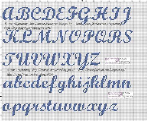 lettere punto croce corsivo amorevitacrocette alfabeti a punto croce