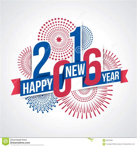 themes happy new year 2016 happy new year 2016 stock vector image of theme firework