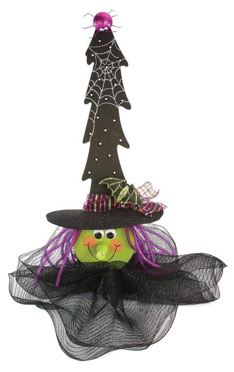 nicole crafts lighted wood tree witch halloween craft